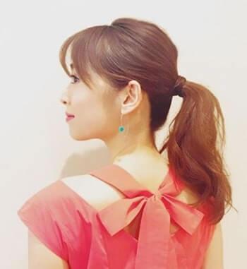 後ろ姿のモデル・泉里香