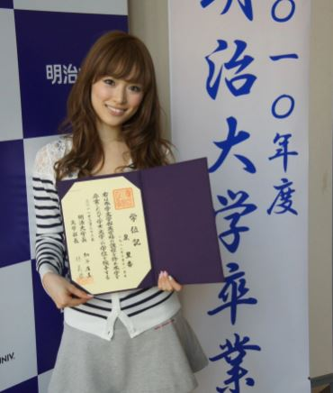 明治大学を卒業したモデル・泉里香