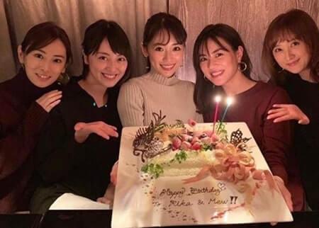 誕生日パーティーを開く泉里香と北川景子