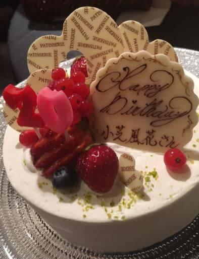ワンホールのバースデーケーキ