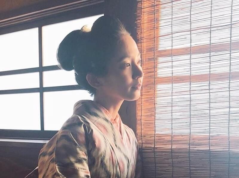 和服姿の女優・吉岡里帆