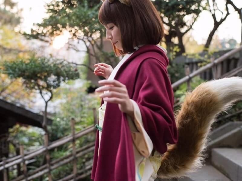 キツネのコスプレをした女優・吉岡里帆
