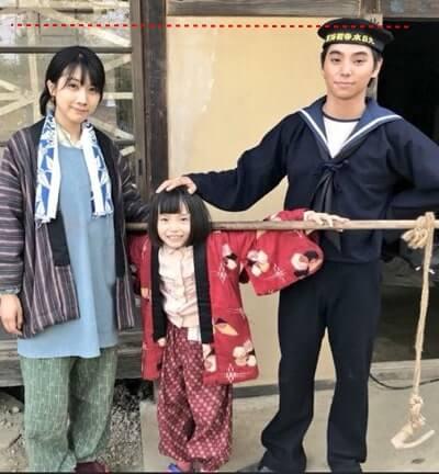 昭和時代の男性と女性と女の子