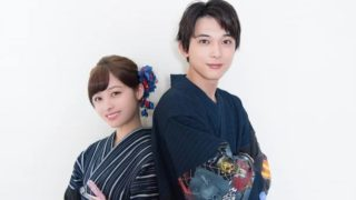 浴衣姿の女優・橋本環奈と俳優・吉沢亮
