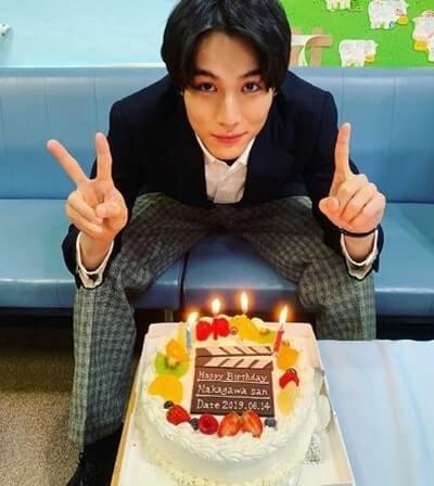 バースデーケーキを貰った俳優・中川大志