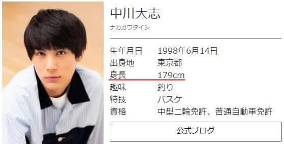 俳優・中川大志の公式プロフィール