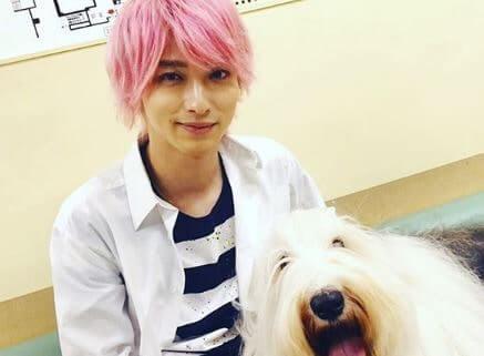 犬とじゃれあう俳優・横浜流星