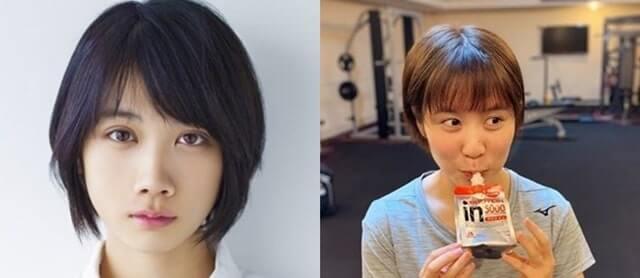 松本穂香と平野美宇の顔の比較