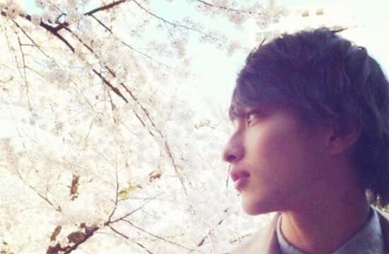 満開の桜を眺める俳優・横浜流星