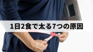 1日2食で太る7つの原因を解説【正しく実践すれば痩せます!】